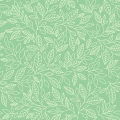 Seamless pattern, leaves on vinous background
