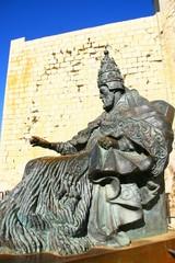 statue du Pape Luna