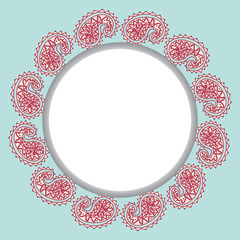 Light blue frame design template with pattern droplet in vector.
