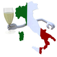 map of Italy cheers