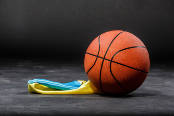 Basketball ball and flag