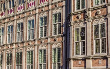 Windows of the Duivelshuis in Arnhem