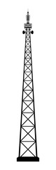 Broadcasting antenna on white background. Vector EPS10.
