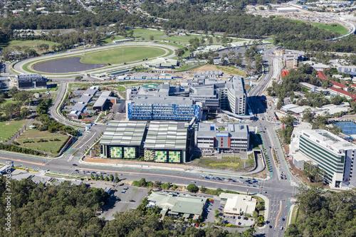 Fotobehang Luchtfoto GOLD COAST, AUSTRALIA – JUNE 16: Aerial view of Gold Coast Uni