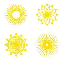 sun pattern icon set