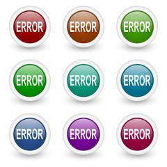 error vector icon set