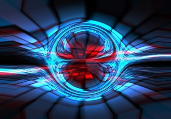Abstract dark blue-red technical background