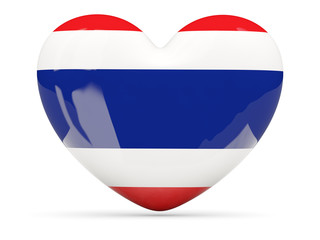 Heart shaped icon with flag of thailand