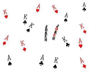 oznaczenia kart do gry