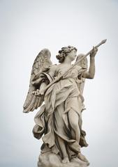 Angel monument in Rome bridge