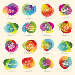 Abstract web Icon and colorful vector symbol