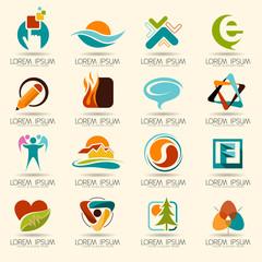 Abstract logo web Icon and globe vector symbol