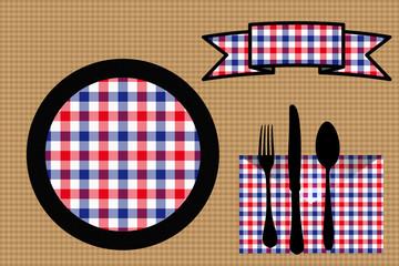 Restaurant  Table préparée