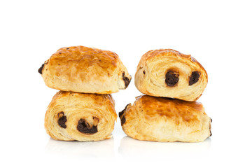 Pains au chocolat (french bakery products with chocolate)