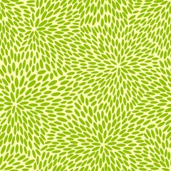 Japanese green leaves pattern