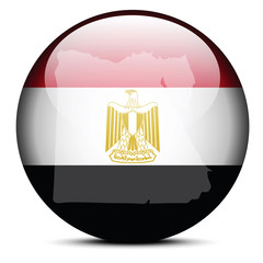 Map on flag button of Arab Republic of Egypt