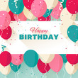 Happy Birthday greeting card in a flat style - 79090780
