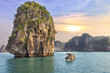 seascape sunset at Halong Bay - 79091111