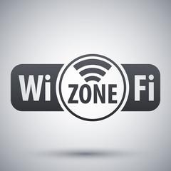 Vector Wi-Fi zone icon