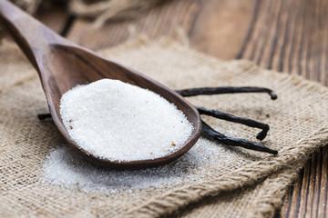 Portion of white Vanilla Sugar
