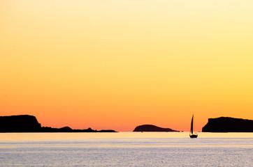 Sailing Boat Sunset Ibiza