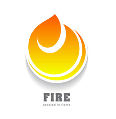 Fire vector design template. Can be used for logo or sport icon.