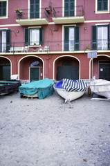 Fisherman Ligurian village, detail. Color image