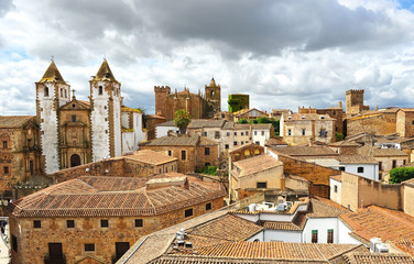 Panoramic view of Caceres, Extremadura, Spain