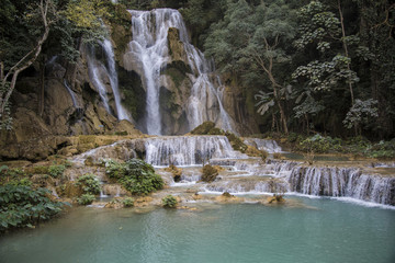 Laos, cascade in the forest