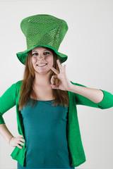 Beim irischen Kobold Mädchen ist alles OK