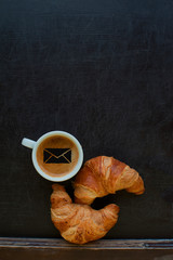 mail sign coffee