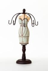 Подставка для украшений в виде фигуры женщины светлая