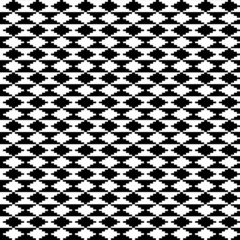 Black and white ethnic motifs carpet