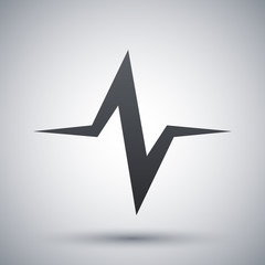 Vector sound wave icon