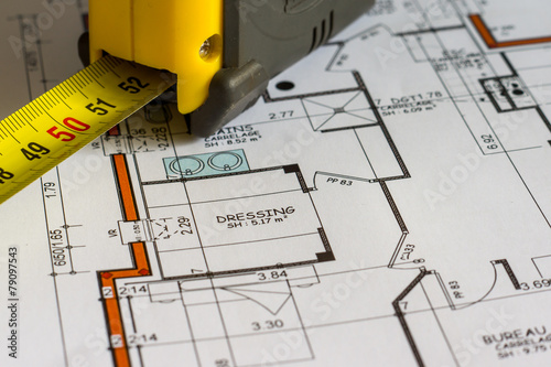 plan construction mesures - 79097543