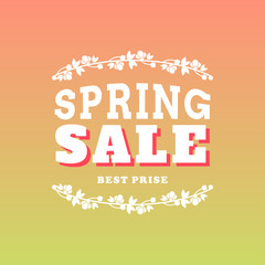 Vector illustration with template text spring sale