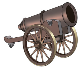 A video game object: cannon