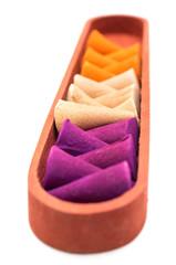 Colorful incense cones