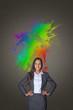 Artistic colorful portrait of a businesswoman
