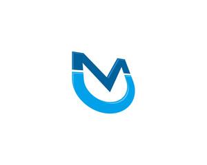 MU UM Letter Logotype