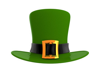 St. Patrick's day green hat isolated on white