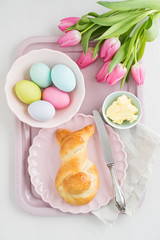 Easter breakfast table