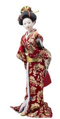 Plastic geisha doll