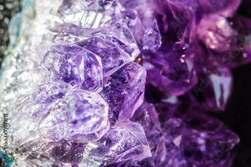 canvas print picture Amethyst crystals