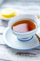 A cup of earl gray tea