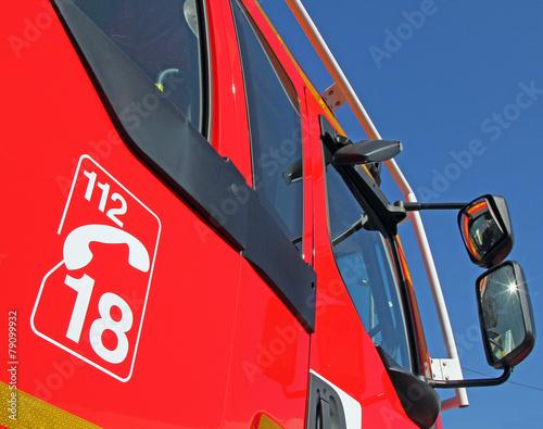 Cabines camion de pompiers Poster