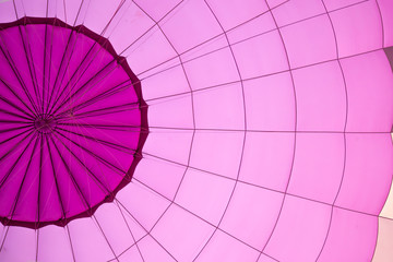 violet color hot air balloon