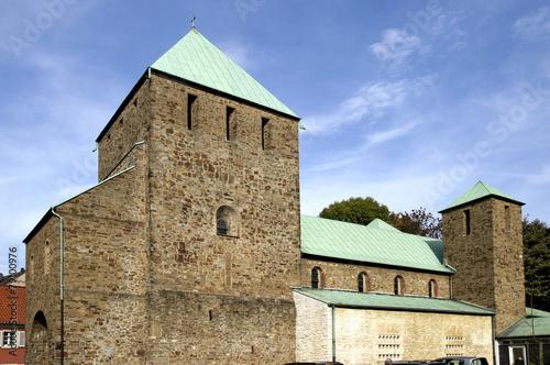 Leinwanddruck Bild St.-Lucius-Kirche in Essen Werden, Deutschland