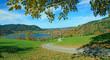Höhenweg bei Gmund am Schliersee, Herbstlandschaft