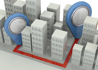 Navigation in the City Concept - 3D